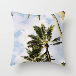 Palm tree in Cairns Throw Pillow