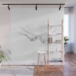holding on for dear life Wall Mural