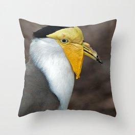 Masked Lapwing Throw Pillow