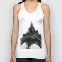 eiffel Tank Tops featuring Eiffel by Julie Photographie