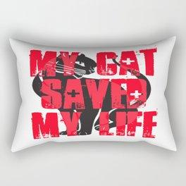 My Cat Saved My Life Rectangular Pillow