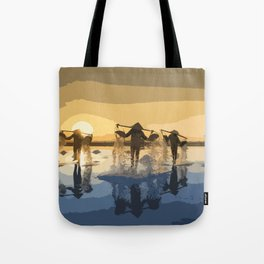 Salt Harvest in Abstract Art Tote Bag