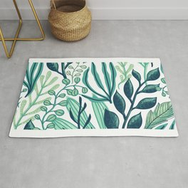 UniCorn Leaves Pattern Rug
