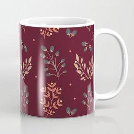 RED MERLOT FLORAL FALL Coffee Mug