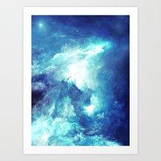 Stardust Waves Art Print
