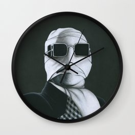 This man is Invisible on vinyl record print Wall Clock