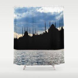 Sultanahmet Camii Skyline Istanbul Turkey Shower Curtain