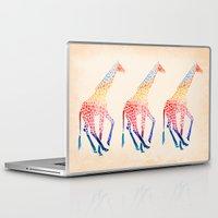 giraffe Laptop & iPad Skins featuring Watercolor Giraffe by Jacqueline Maldonado