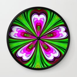 Abstract - Petals Wall Clock