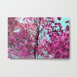 Autumn Pink Metal Print