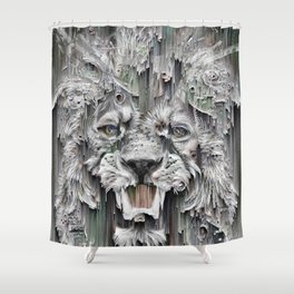 Lion in the night Shower Curtain