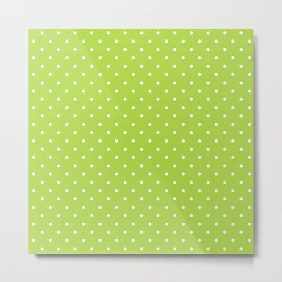Small White Polka Dots On Green Background by pinkcloud