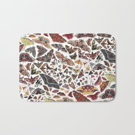 Moths of North America Pattern Bath Mat