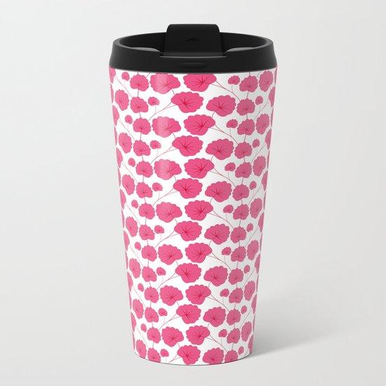 Cherry blossom pattern Metal Travel Mug