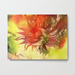 Blissful Sun Moon Metal Print