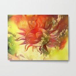 Blissful Sun Moon Metal Print