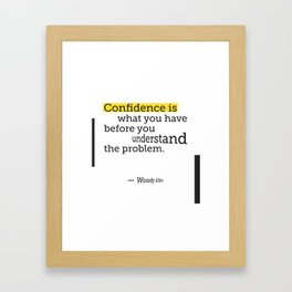 Woody Alen quote Framed Art Print