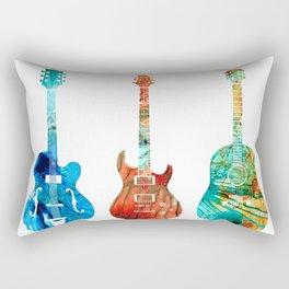 Abstract Guitars by Sharon Cummings Rectangular Pillow