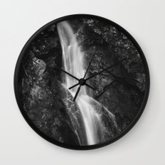 Waterfall in Hell Gorge, Slovenia Wall Clock
