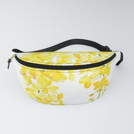 golden shower flower watercolor Fanny Pack