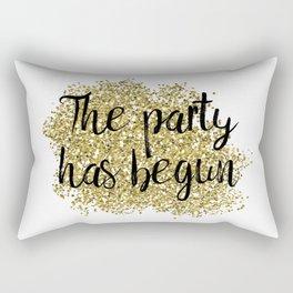 The party has begun - golden jazz Rectangular Pillow