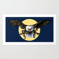 eagle Art Prints featuring Eagle by Anna Shell