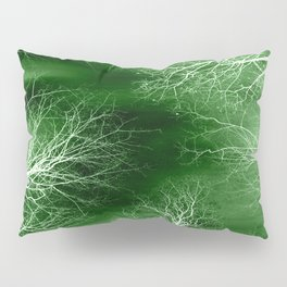 Green Midnight Trees Pillow Sham