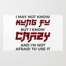 Crazy Kung Fu Funny Martial Arts Dare Rug