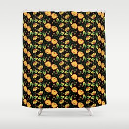 Russian Khokhloma pattern Shower Curtain