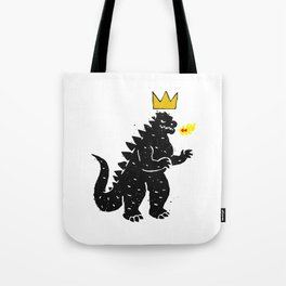 Jean-Michel Basquiat's Crown on Japanese Monster Tote Bag