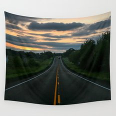 Just standin' in the middle of a country road and watchin' the sun set... Wall Tapestry