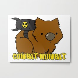 Combat Wombat Metal Print