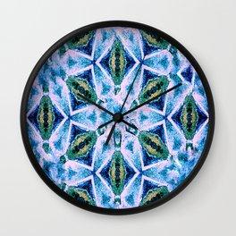 Geometric pattern in purple and blue Wall Clock