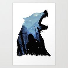 Jon Snow - King of The North Art Print