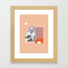 PJ with a Pipe Framed Art Print