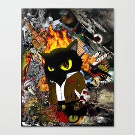 Cat Behemoth (Master & Margarita) Canvas Print