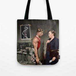 Promotion on job Tote Bag