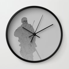 Zombie Sniped Wall Clock