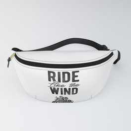 Ride Like The Wind Motorcycle Rider Biker Graphic Fanny Pack