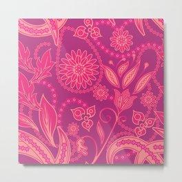 Hot Pink Panther Floral Metal Print
