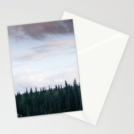 Alaska Trees in Denali National Park Stationery Cards