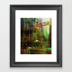 Noise never sleeps in this city Framed Art Print
