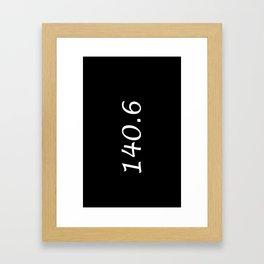 Triathlon - 140.6 Framed Art Print