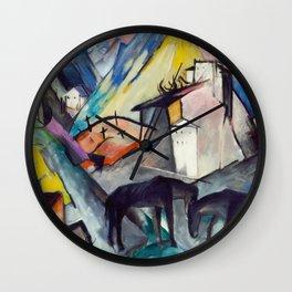 "Franz Marc ""The Unfortunate Land of Tyrol"" Wall Clock"