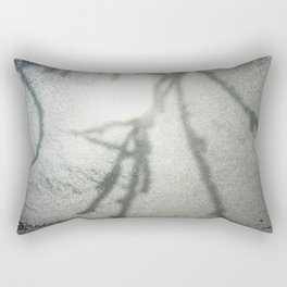 Shadow on a frosty window Rectangular Pillow