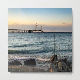 The Mackinac Bridge Metal Print