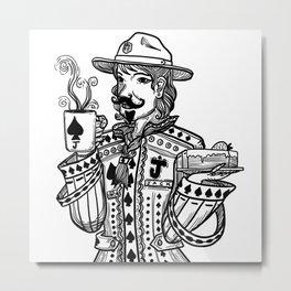 Jack love coffee. Metal Print