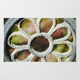 Metalic Flower Rug