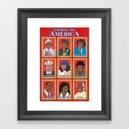 Coming to America Framed Art Print