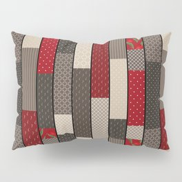 Country motifs . Classic quilting. Pillow Sham